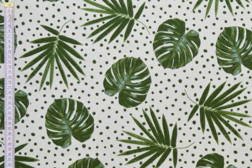 Tela de hojas de palma tropical Spot-Blanco y Verde Cortinas Cojines Y Artesanías