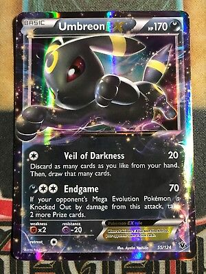 Pokemon Umbreon EX 55/124 XY Fates Collide Ultra Rare Holo NM