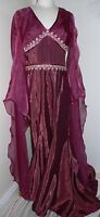 Stunning Ladies Medieval Renaissance Gown Dress Costume Maid Marion Thrones