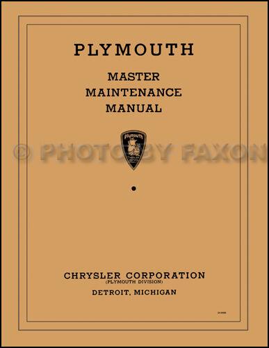 1934 1935 1936 Plymouth Master Shop Manual Pe Pf Pfxx Pg