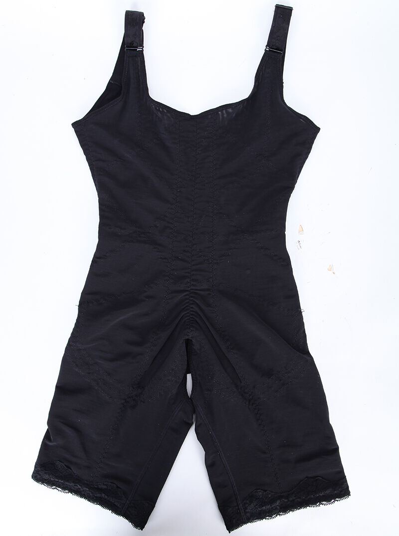 Women Full Body Shaper Thigh Slimming Underbust Waist Trainer Shapewear Bodysuit 12