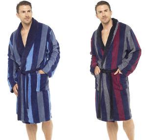Détails Sur Hommes Luxe Peignoir Robe De Chambre Peignoir Polaire Deluxe épais Bleu Noir Med Xxl Afficher Le Titre D Origine