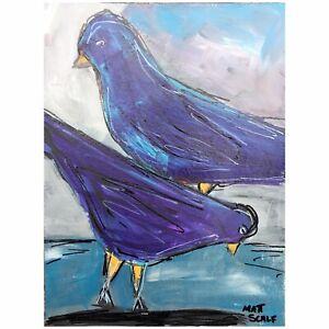 Matt-Scalf-Birds-ORIGINAL-PAINTING-9x12-Bird-Animal-Decor-Pet-Wildlife-Nature