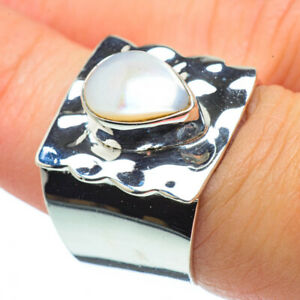 Cultured-Pearl-925-Sterling-Silver-Ring-Size-7-75-Ana-Co-Jewelry-R30575F