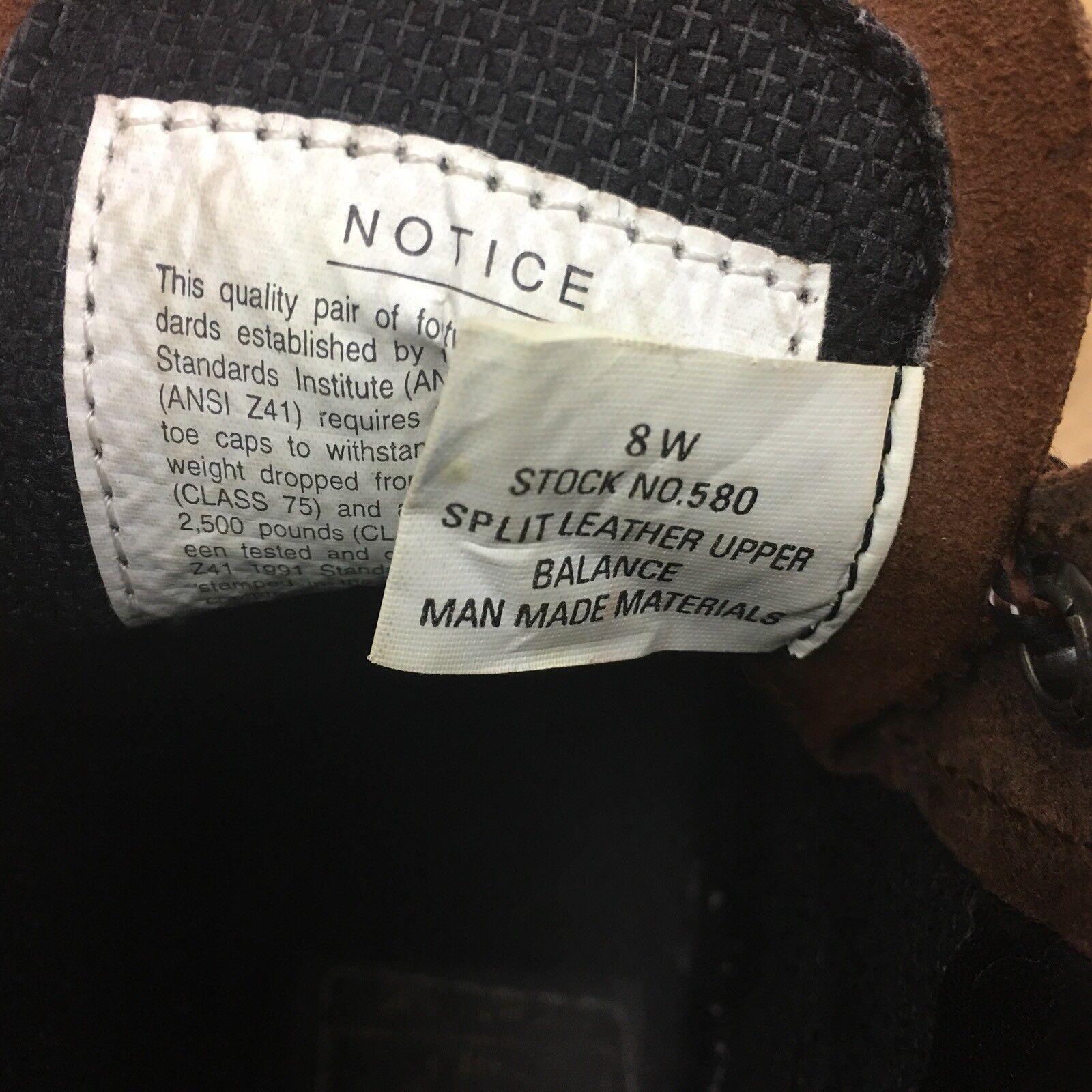 LeHigh Stiefel damen's 8W Ansi Ansi Ansi Z41 Oil Resistant braun Leather Safety Stiefel  SB08 a732f8