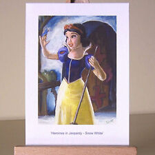 WDCC Snow White in oil painting style drawing ACEO Art Card