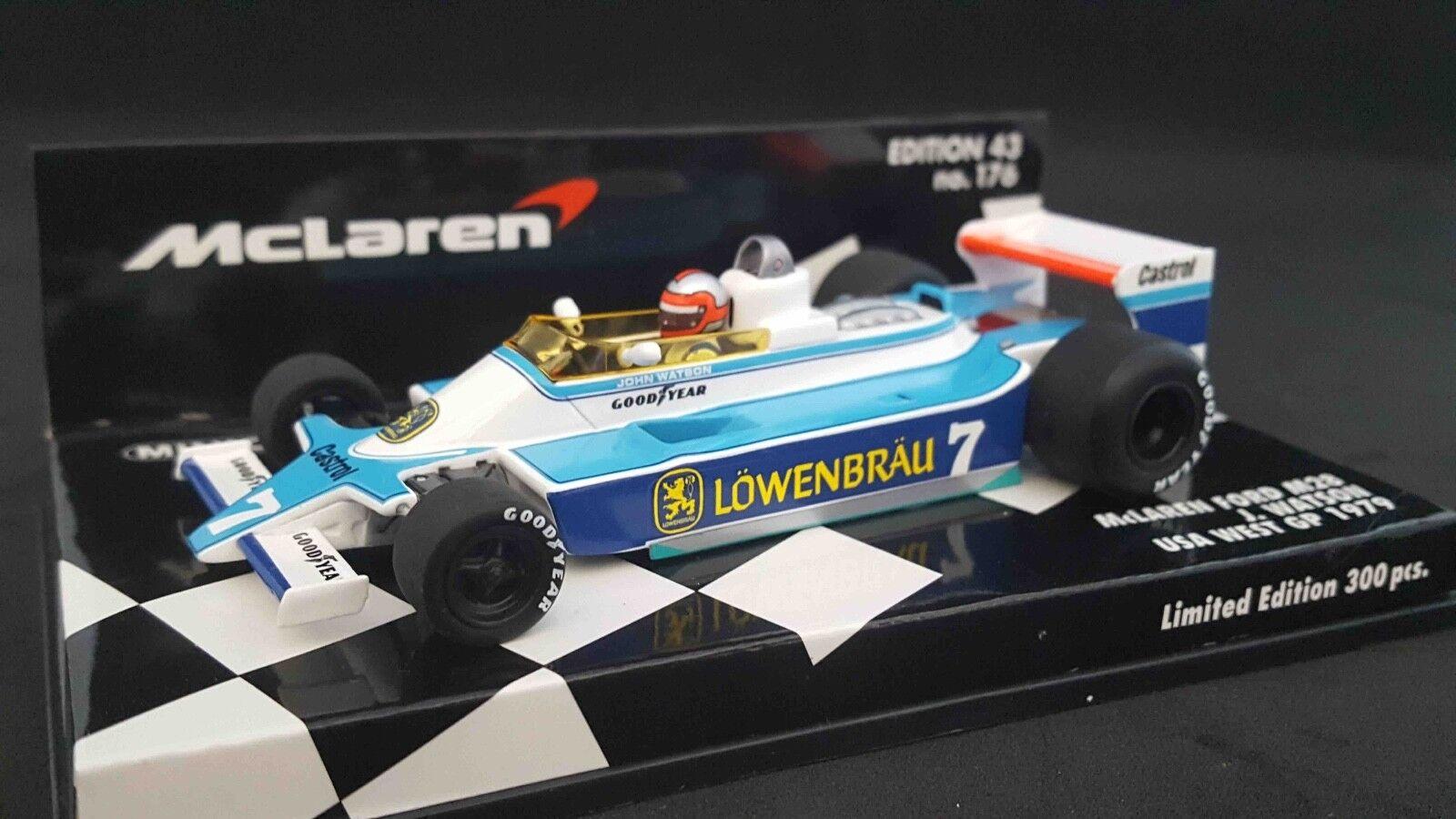Minichamps 537794397 1 43 MCLAREN FORD M28 JOHN WATSON USA GP WEST 1979 F1 Model