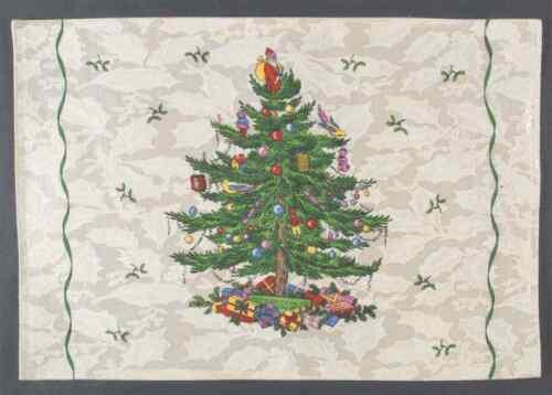 Cloth Placemat 6141336 GREEN TRIM Spode CHRISTMAS TREE