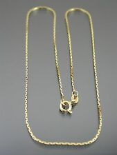 VINTAGE 18ct gold Boston link collana catena 16 Pollici 1979