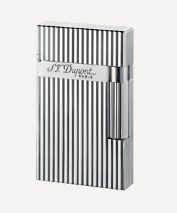 NEW-S-T-Dupont-Ligne-2-Lighter-Lined-Silver-Diamond-Head-Luxury-016817-ST