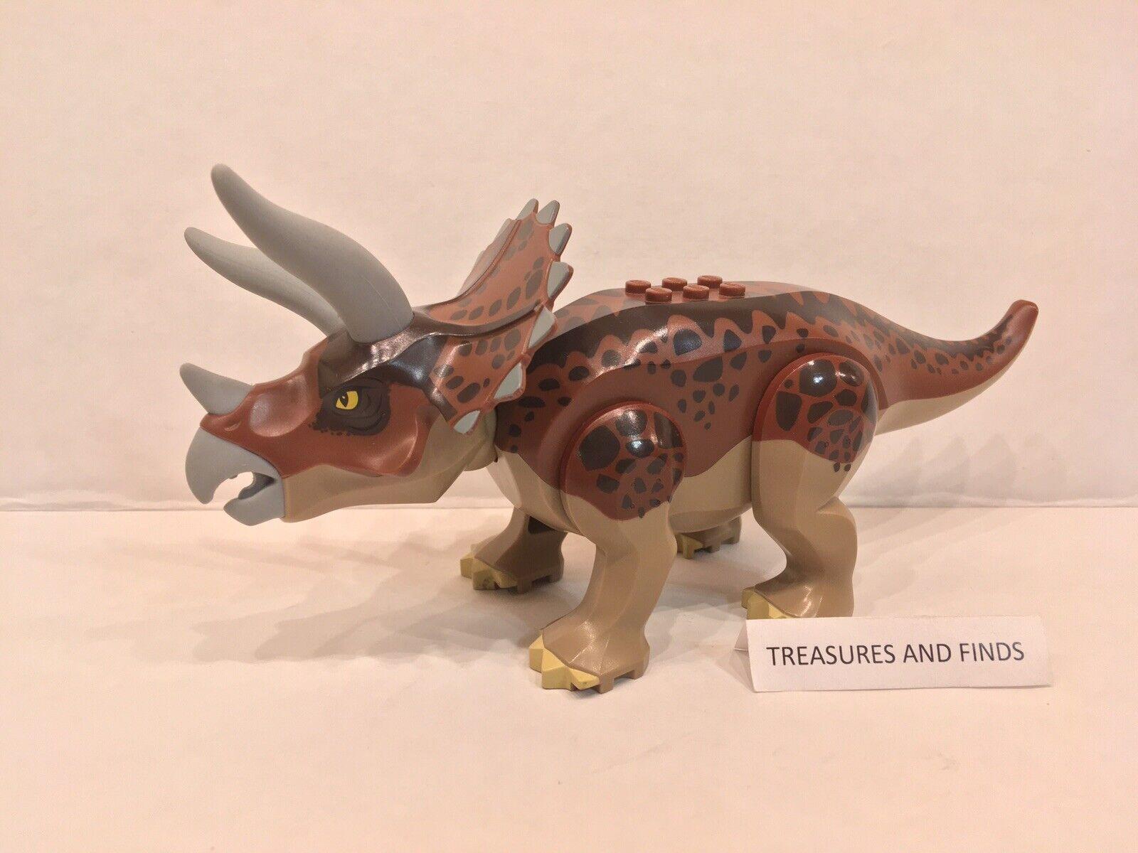 Genuine Lego Triceratops Dinosaurio Figura De Dino Set 5885, jubilado