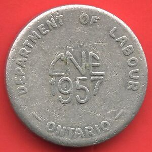 Vintage-1951-CNE-034-Department-Of-Labour-Ontario-034-Thick-Aluminum-Token-22-mm-Dia