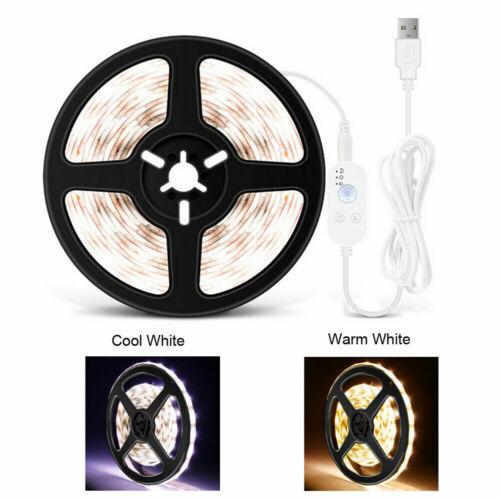 USB PIR Motion Sensor Led Light Strip Cabinet Kitchen Closet Lamp Bulbs DC5V