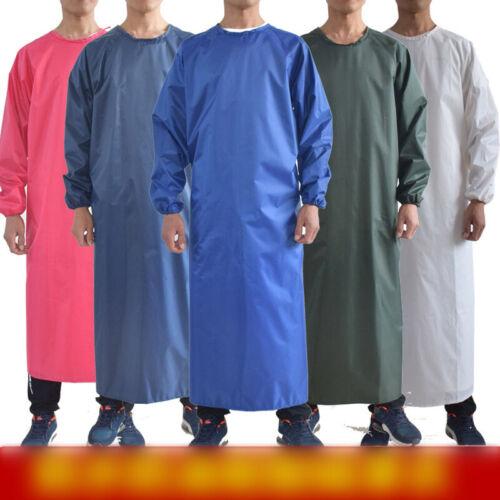 Unisex Waterproof Apron Anti-Oil Butcher Chef Kitchen Cook Long Sleeve Uniform