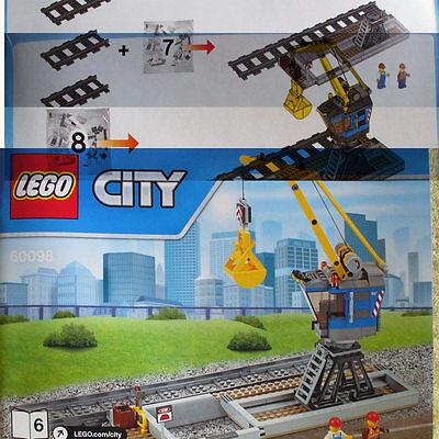 Heavy-Haul Train 60098 Book-6 B6 Loading Station Crane Lego Freight Depot