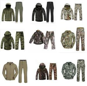 *Lurker Shark Soft Shell Military Tactical Jackets hunting Coat Waterproof pants