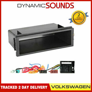 Car-CD-Stereo-Radio-Fitting-Kit-Fascia-Wiring-For-VW-Volkswagen-Polo-Transporter