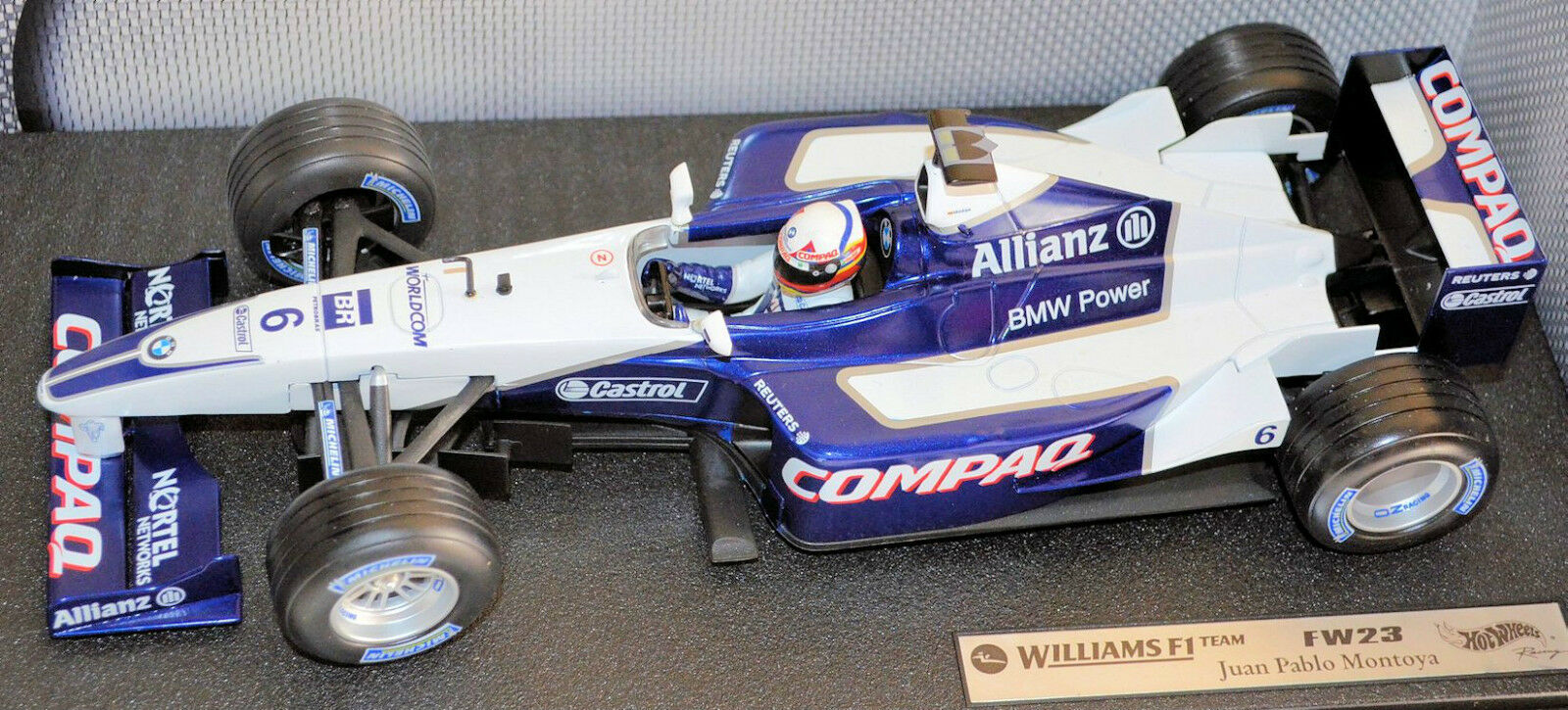 Williams fw 23 bmw 2001 j.p. montoya compaq alianza 1 18 Hot Wheels