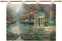 Garden Of Prayer Tapestry Wall Hanging W/verse Artist, Thomas Kinkade
