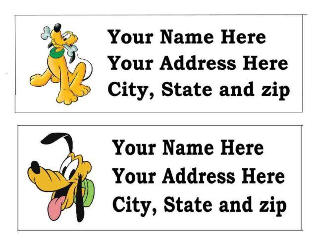 120 pluto disney return address labels ebay