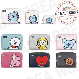 BT21-Character-PU-Square-Pouch-Case-Bag-S-M-L-Size-7types-Authentic-K-POP-Goods