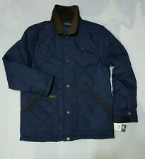 Polo Ralph Lauren Melton Navy Quilted YOUTH JACKET (18-20yrs) size :EXTRA-LARGE