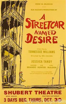 A Streetcar Named Desire Playbill Poster Fine Art Lithograph Marlon Brando