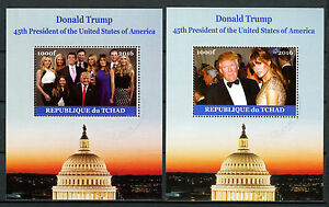 Chad-2016-CTO-Donald-Trump-amp-Family-45th-US-Presidents-2x-1v-M-S-Ivanka-Stamps