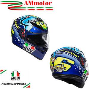 Casco-Agv-K3-Sv-Top-Misano-2015-Valentino-Rossi-MS-57-Pinlock-Integrale-Moto