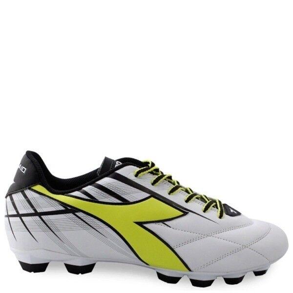 Men's Diadora Forte MD LPU Soccer Cleats - White Neon Nlack - NIB