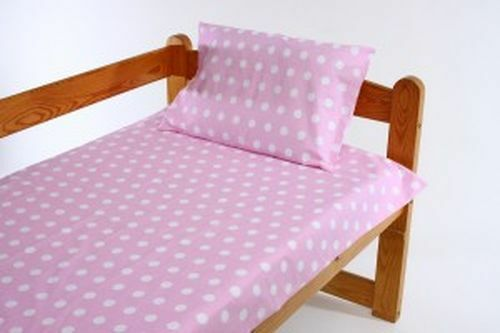 2//3//5 Piece Baby Nursery Bedding Set 120x90 or 135x100-Antiallergic-Dots on Pink