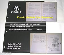 PIAGGIO VESPA MOTOR 50 cc 4-Takt WERKSTATT HANDBUCH Service Station Manual