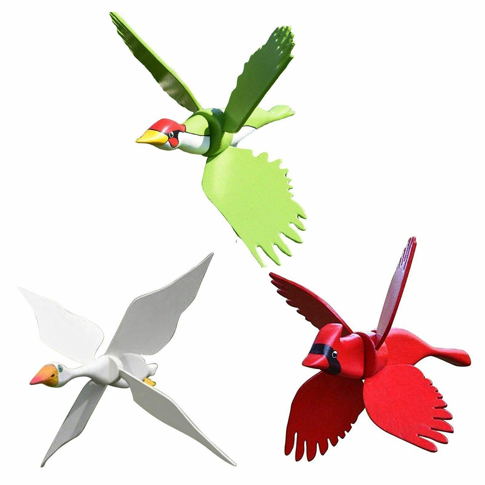 Flying Bird Windmill Wind Spinner Birds Whirligig Outdoor Backyard Decoration