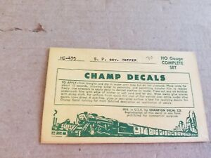 Champ Decals HO Southern Pacific Covered Hopper #HC-435
