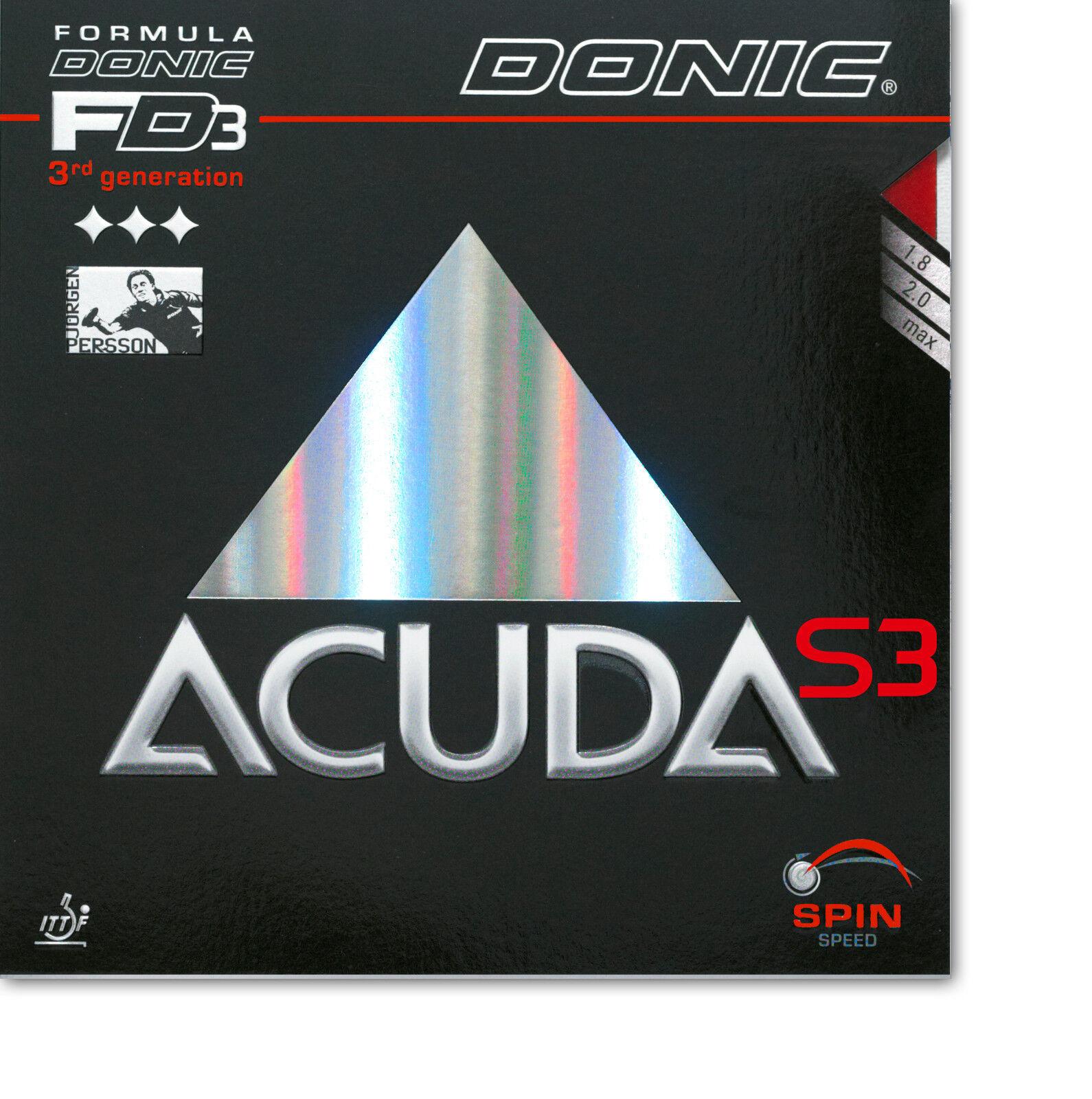 DONIC Acuda S3 1,8mm rot  NEU   OVP OVP OVP 039649