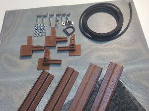 1 Set als Bausatz Insektenschutz Rahmen Fliegengitter DELUXE für Fenster BRAUN