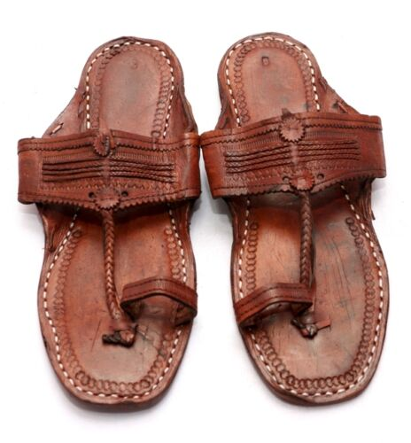 indio hecha Sandalia cuero zapatilla mano Boho nosotros Hippie hombres Look antigüedades a de 11 6q1ATwq