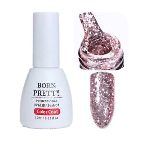 10ml-Rose-Gold-Soak-Off-Nail-Art-UV-Gellack-Glitzer-Dekor-Manikuere-Born-Pretty