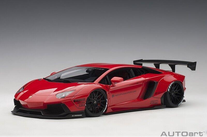 79108 Liberty Walk LB-Works Lamborghini Aventador (Red) (cmposit, 1 18 Autoart