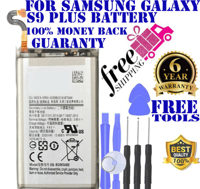 Replacement Samsung Galaxy S9 PLUS Battery 3500mAh EB-BG965ABE G965W Free Tools