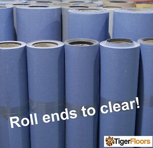 Blue Safety Flooring Cheap Roll End Sale Anti Slip