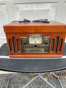Crosley CR74 Entertainment Center Turntable Vinyl/CD/Cassette/AM/FM Radio Player
