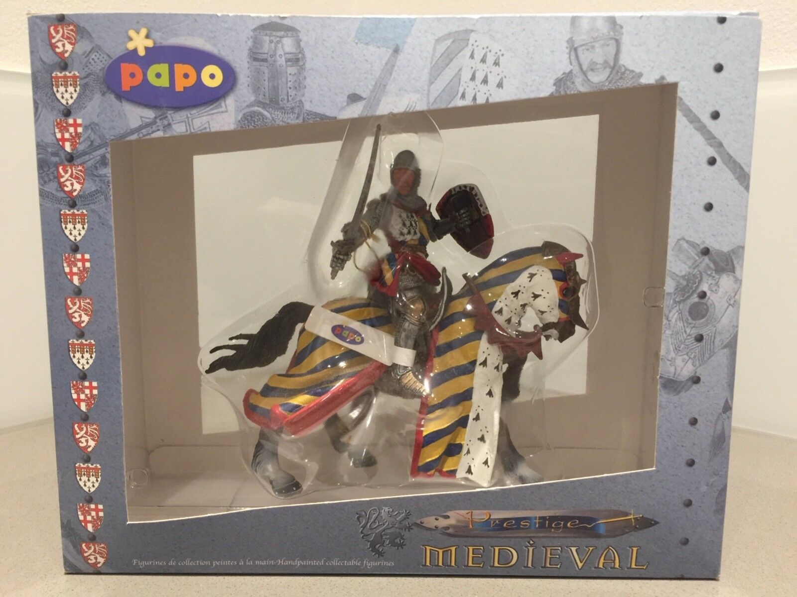 Papo Prestige Medieval Knight with Sword on Horse