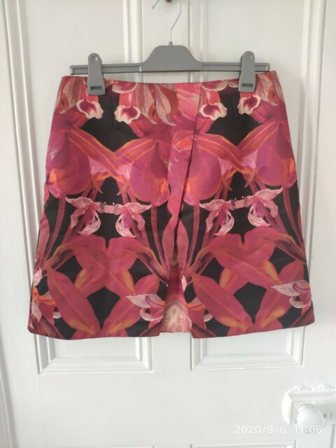 Ted Baker Size 3 Jungle Orchid Print Skirt New With Tags