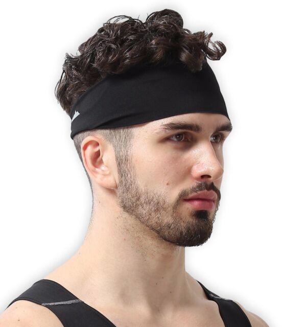 Hair Head Band Sweatband Headband Stretch Mens Wrap Elastic Sports Men Thin  Gym fe6a5f044ed