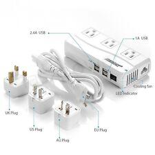 BESTEK 220V to 110V Travel Voltage Converter Adapter International UK/US/AU/EU
