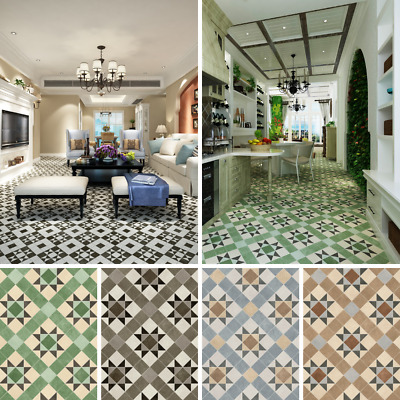 Victorian Patterned Tile Effect Cushioned Sheet Vinyl ...
