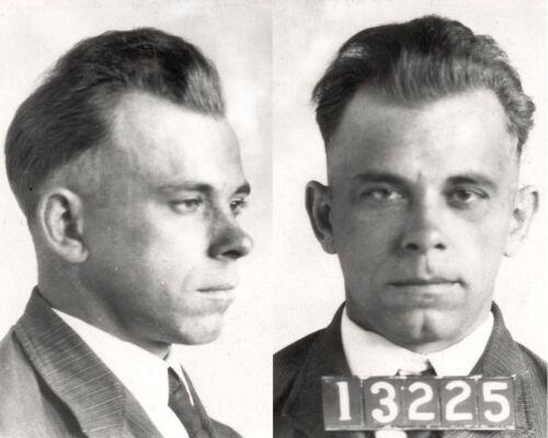 John Dillinger Arrested Mugshot 8 x 10 Photo Picture