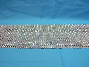Attrayant Image Is Loading SILVER RHINESTONE LOOK MESH TABLE RUNNER 72 034