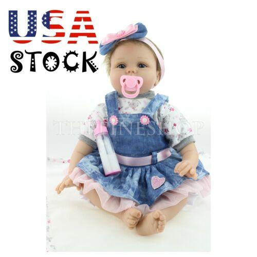 22/'/' NPK Reborn Baby Girl Dolls Silicone Lifelike Newborn Birthday Toys Gifts US
